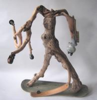 Skateboarding Boy - 2007 - wood and metal - 560mm x 770mm x 910mm