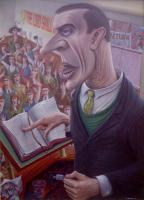 The Preacher - 1990 - oil on canvas - 1168mm x 845mm