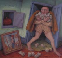 preoccupied - 08 - oil on canvas - 895mm x 902mm