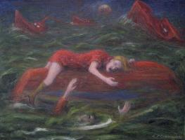Ships that Pass - 05 - oil on paper - 355mm x 278mm