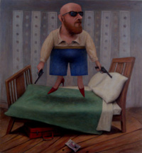 Bring it On - 2011/12 - oil on canvas - 880mm x 750mm