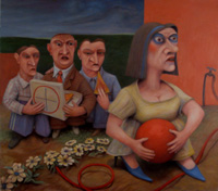 Can We have our Ball back - 2011 - oil on canvas - 1220mm x 1080mm